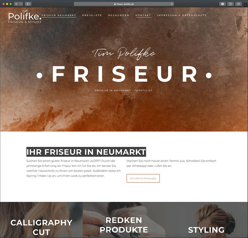 Friseur Webseite von Tim Polifke