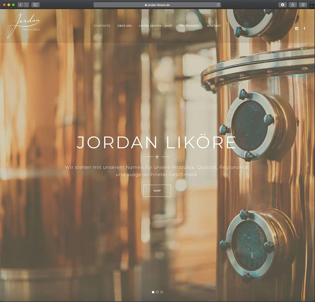 Webdesign Likörhersteller