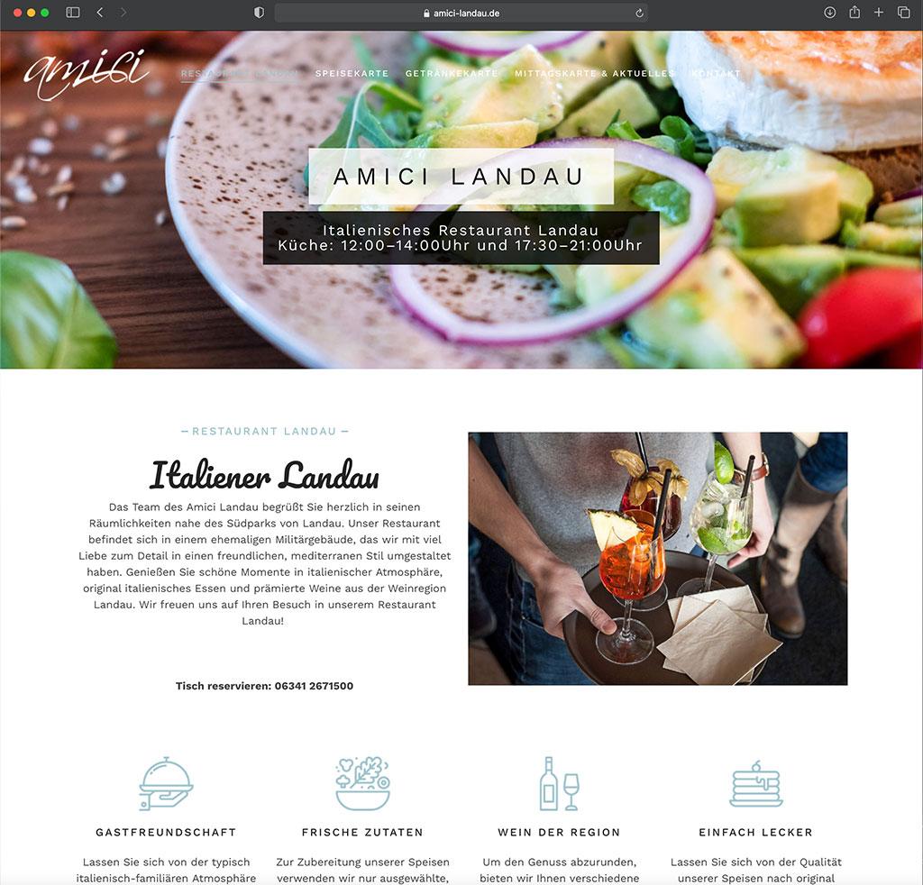 Gastronomie Website