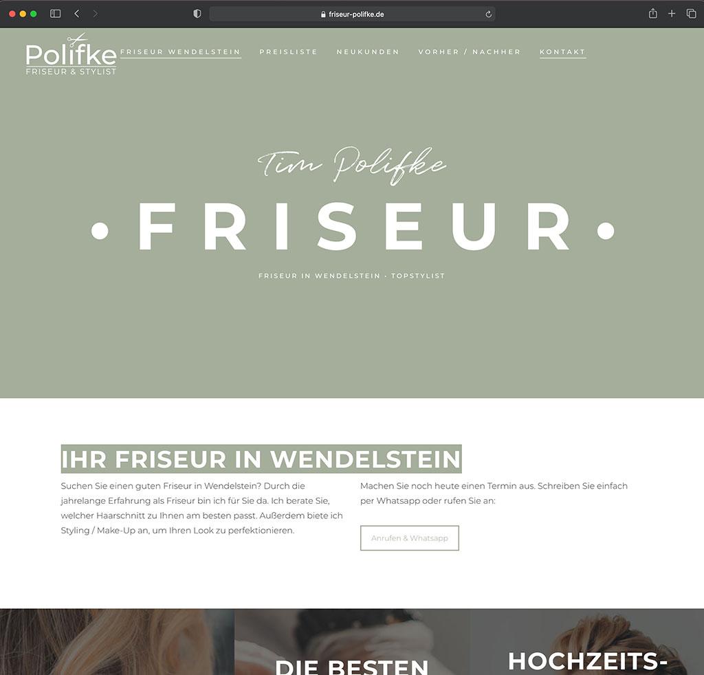 Webdesign Friseur
